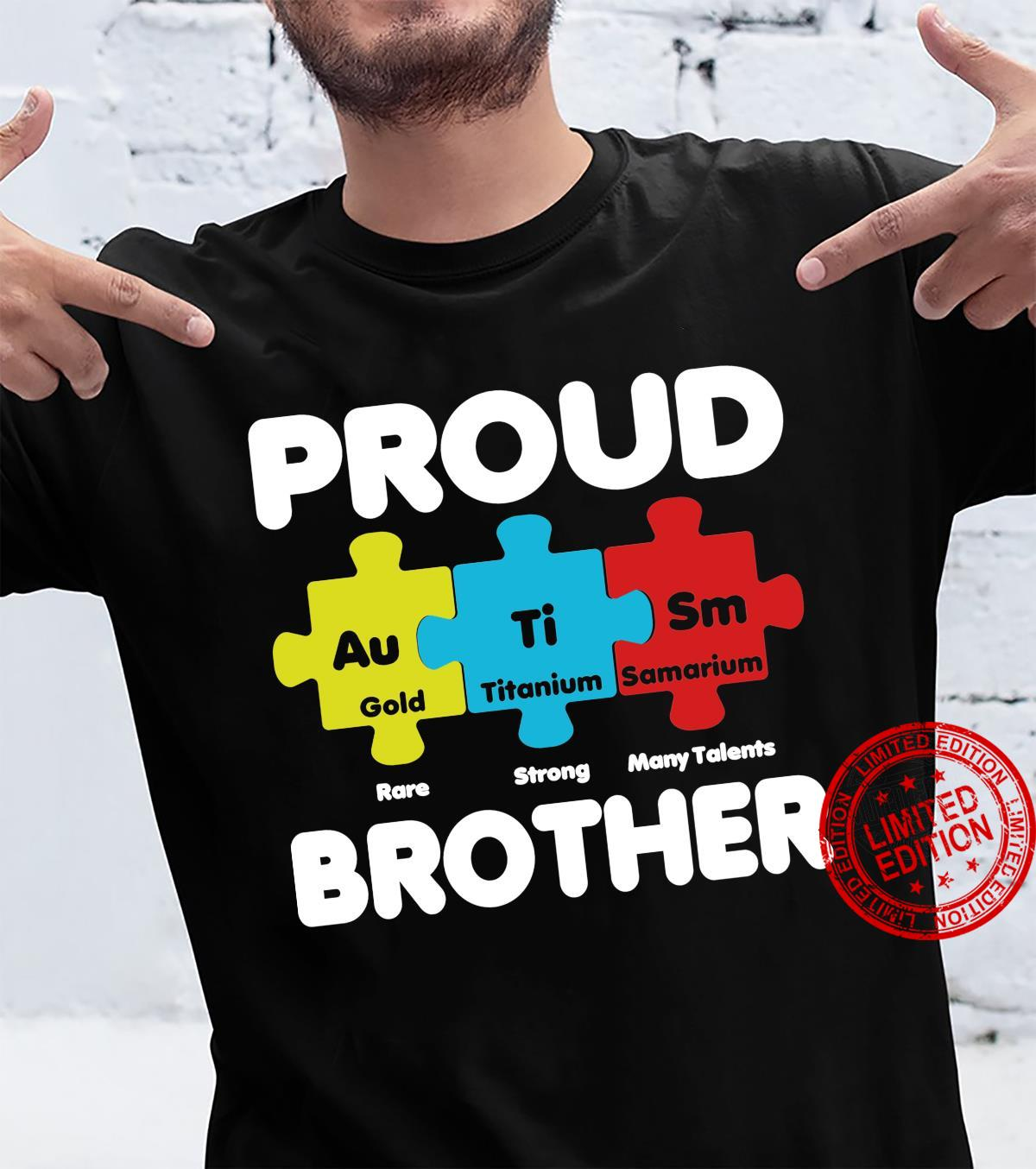 Autism Proud Brother Awareness Month Awareness Puzzle Piece Shirt