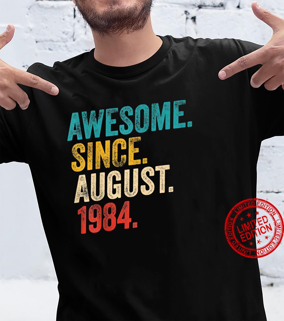 Awesome Since 1984 37th Birthday Retro Shirt
