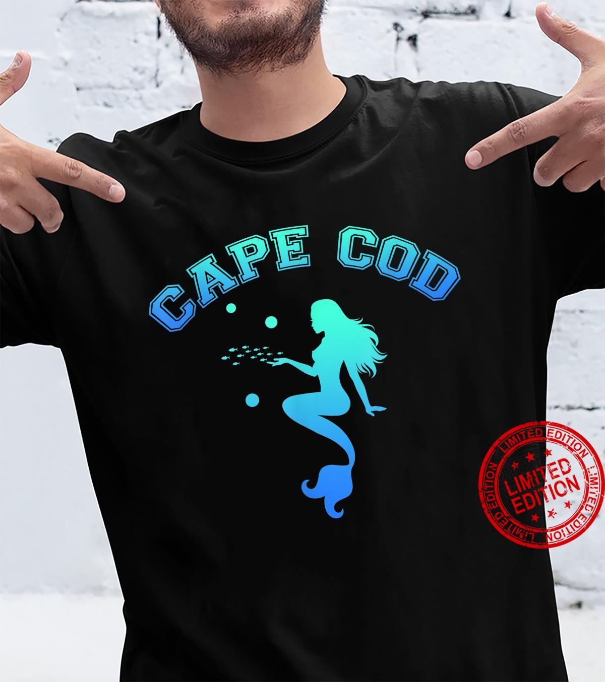 Cape Cod Meerjungfrau Fischspaß MA Massachusetts Blau Shirt