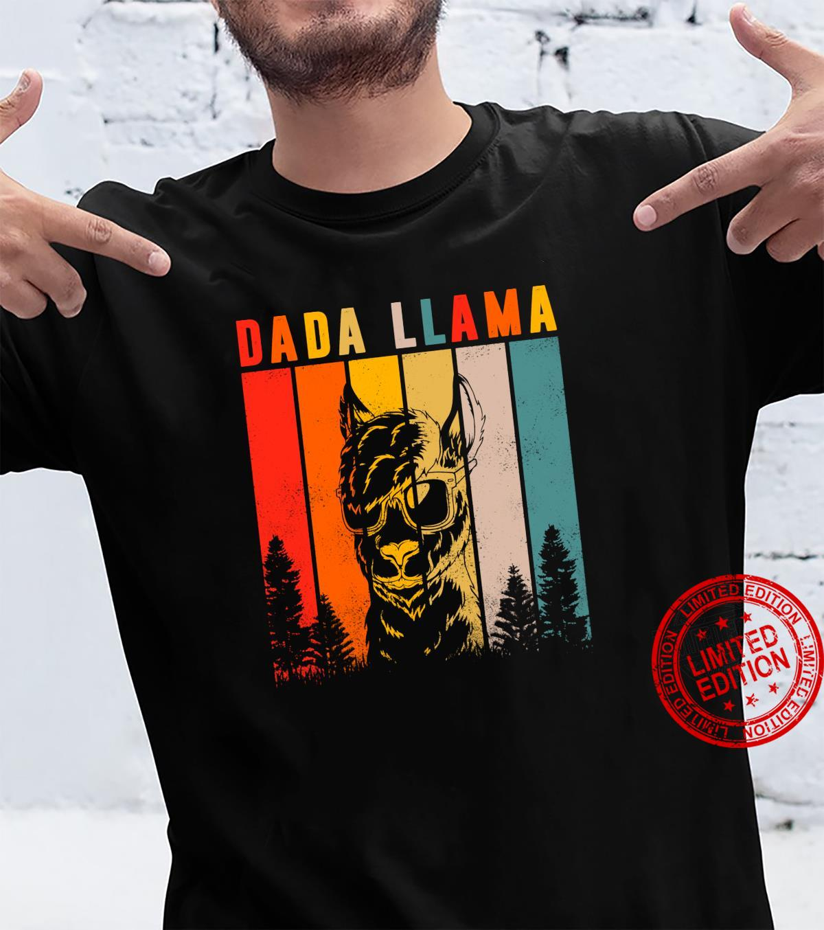 Dada Llama Daddy Cute Fathers Day Idea Shirt