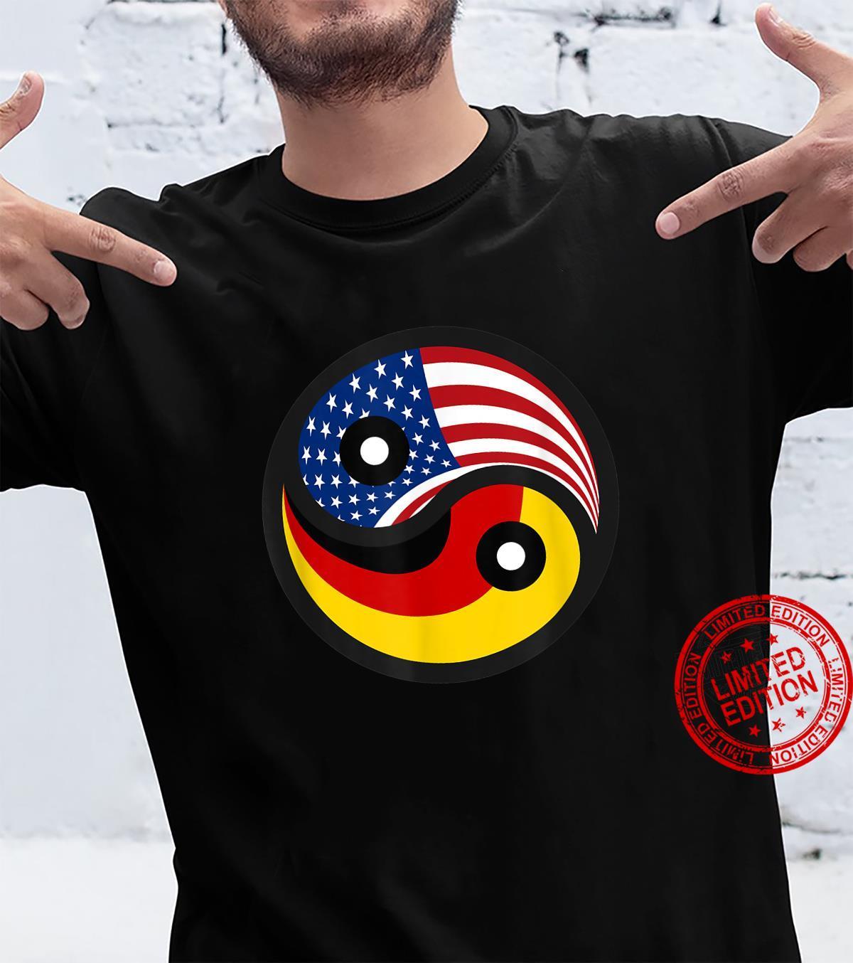 Deutschland & USA DeutschAmerikanische Flagge Fahne Shirt