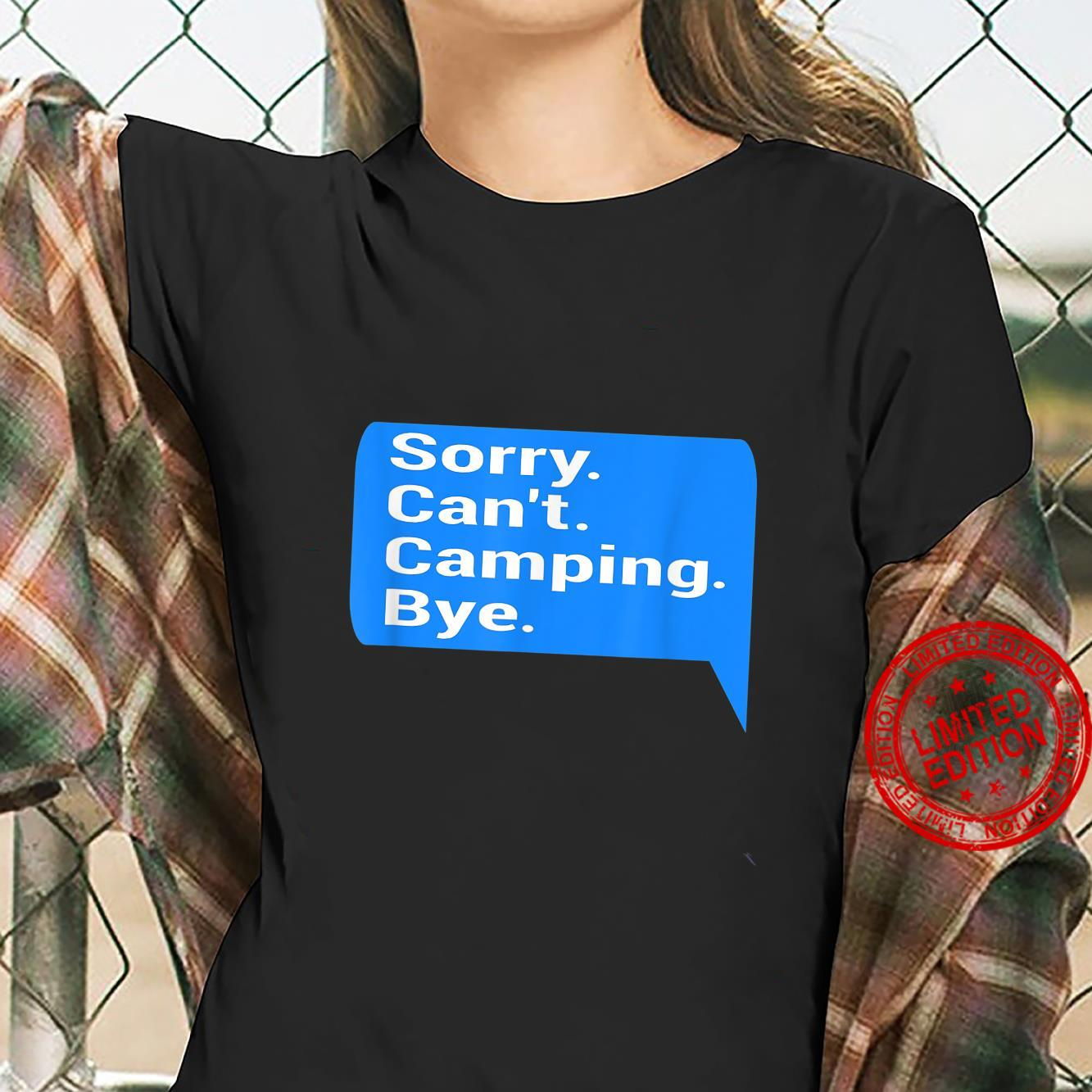 Funny text message design camper, camping fan Shirt ladies tee