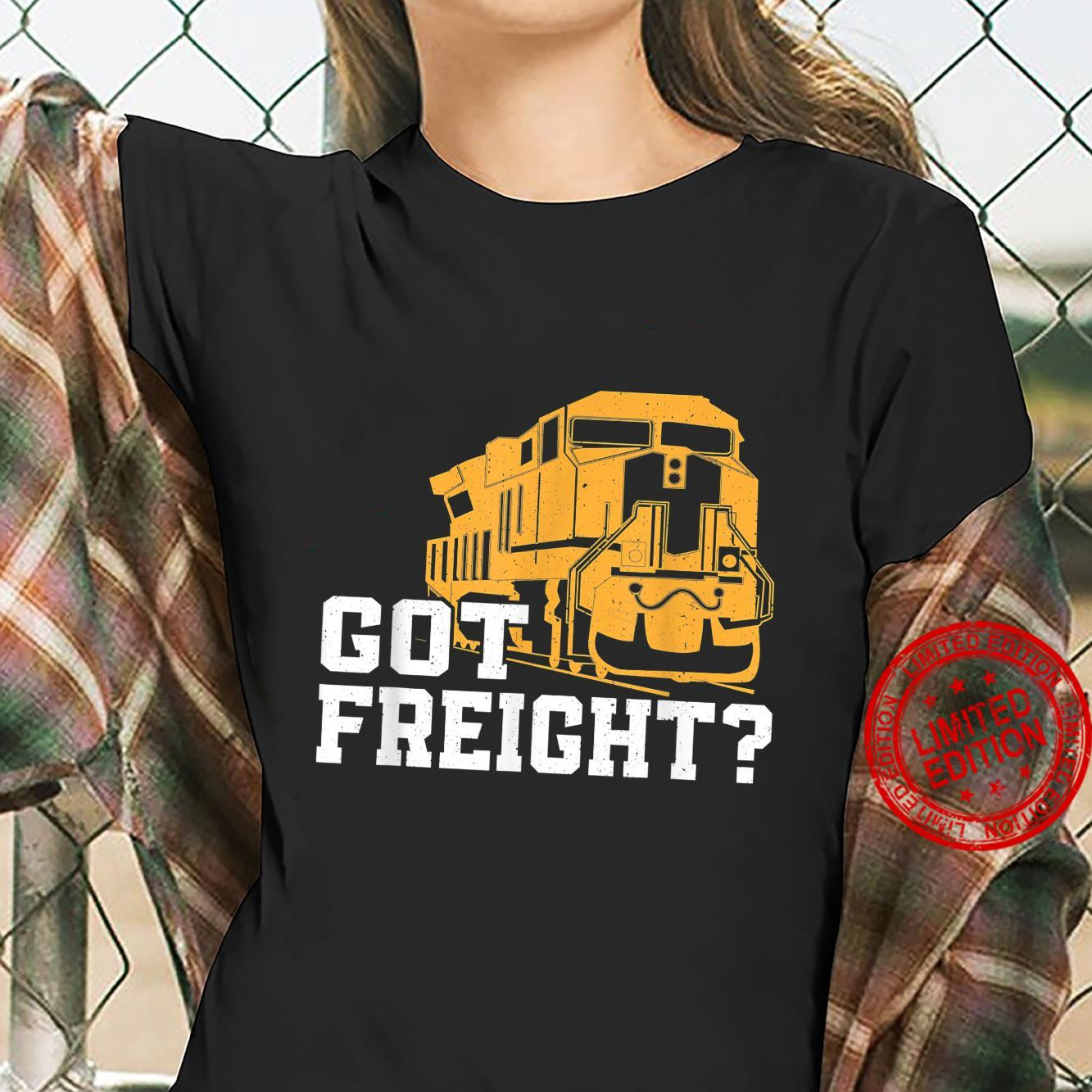Great Freight Train Design Train Driver Trainspotter Shirt ladies tee
