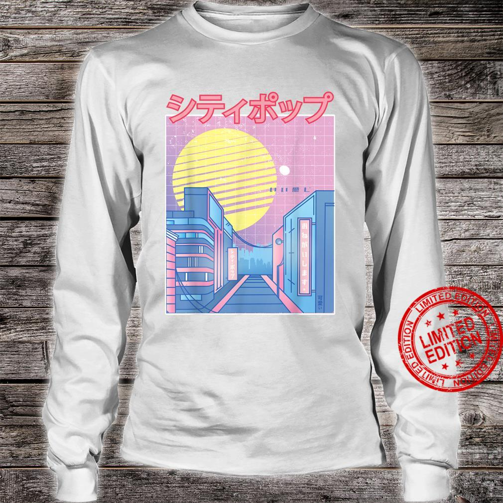 Japan City Pop Kawaii 80s Japanese Anime Music Aesthetic Shirt long sleeved