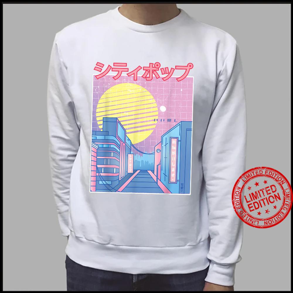 Japan City Pop Kawaii 80s Japanese Anime Music Aesthetic Shirt sweater