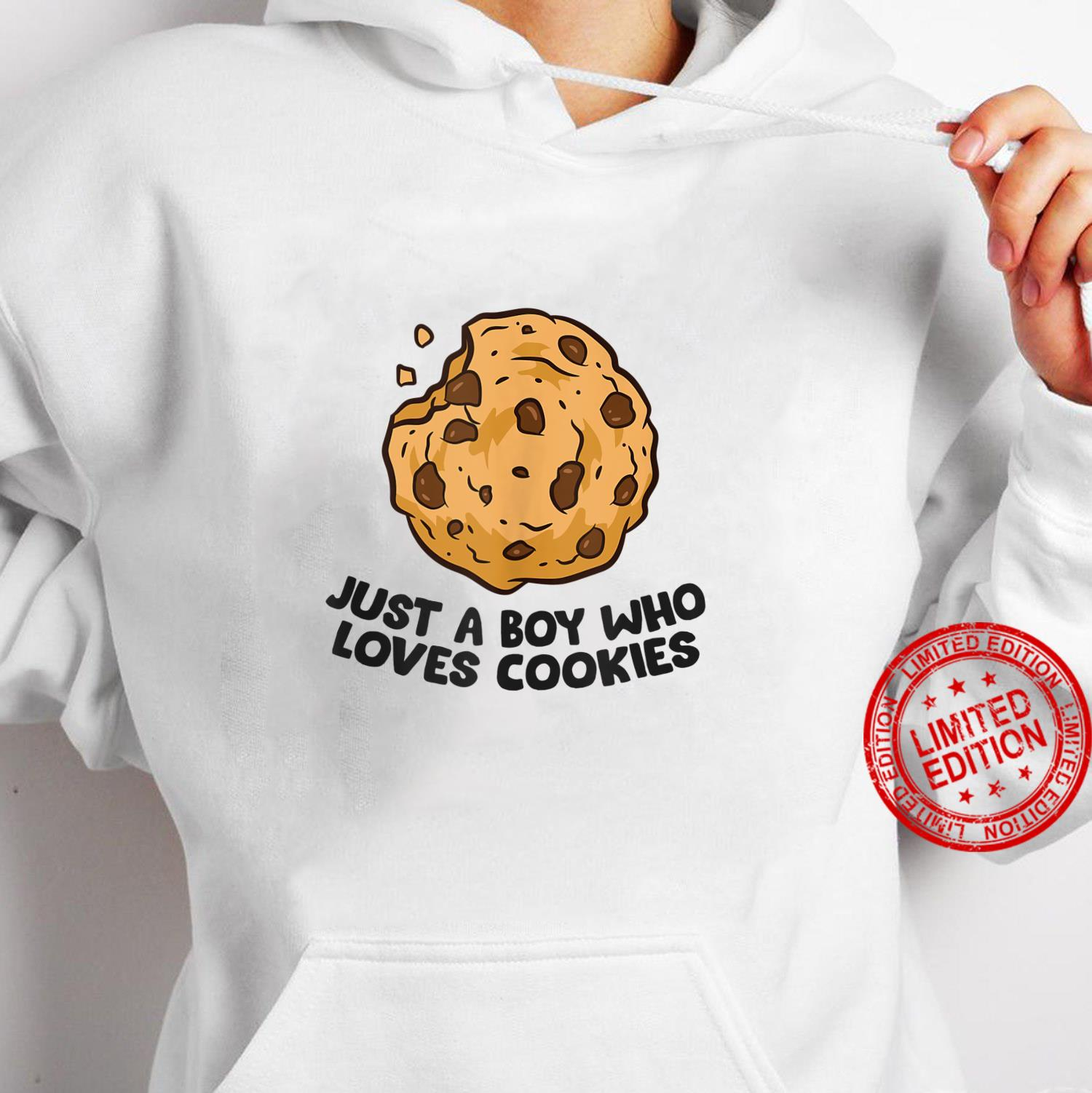 Just a Boy Who Loves Cookies Chocolate Chip Cookies Shirt hoodie