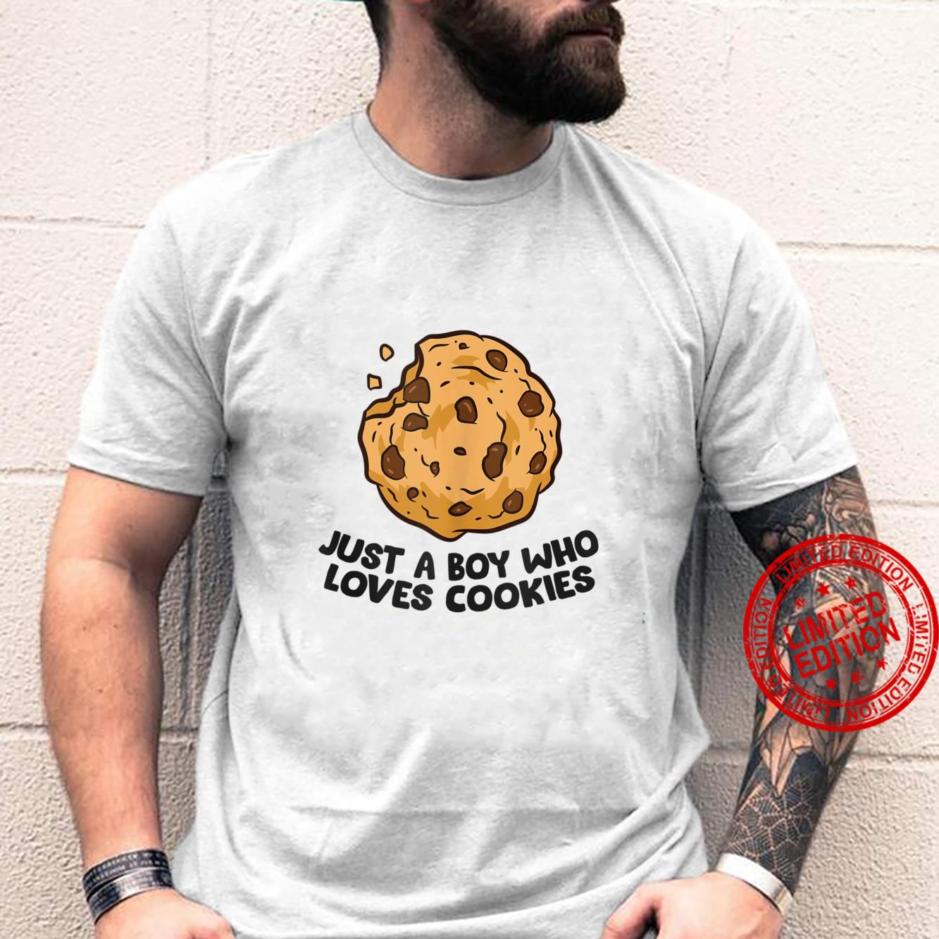 Just a Boy Who Loves Cookies Chocolate Chip Cookies Shirt