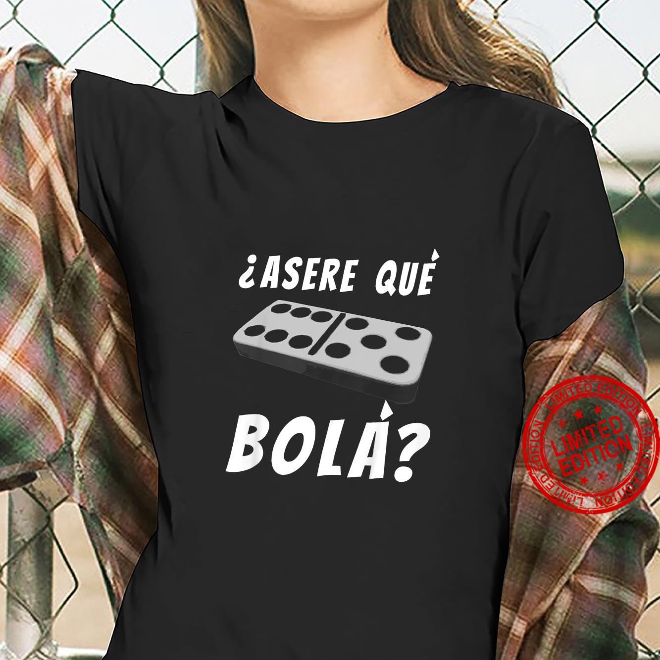 Kids Cuban Saying Miami Florida Cuba Dominoes Domino Game Shirt ladies tee