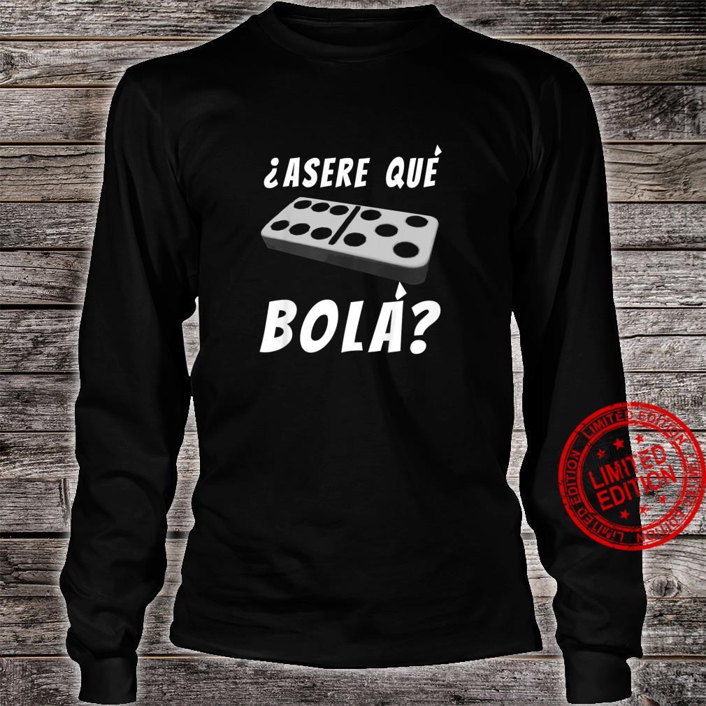 Kids Cuban Saying Miami Florida Cuba Dominoes Domino Game Shirt long sleeved