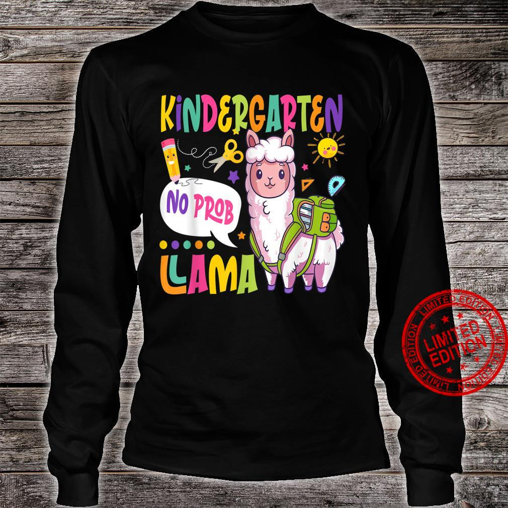 Kindergarten No Prob Llama Happy First Day Of School Shirt long sleeved
