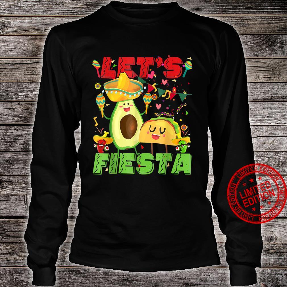 Let's Fiesta Avocado And Tacos Cinco De Mayo Mexican Party Shirt long sleeved