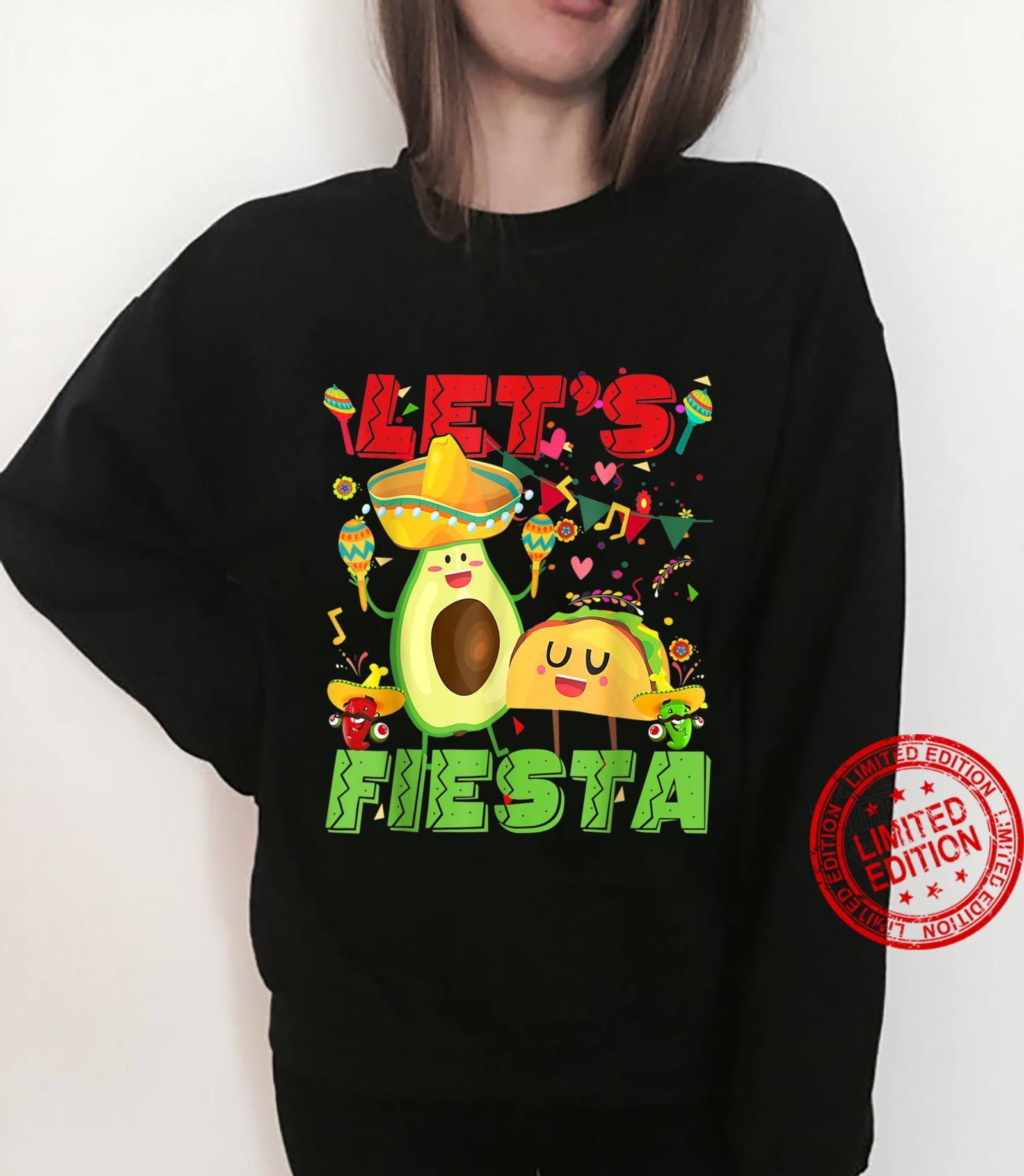 Let's Fiesta Avocado And Tacos Cinco De Mayo Mexican Party Shirt sweater