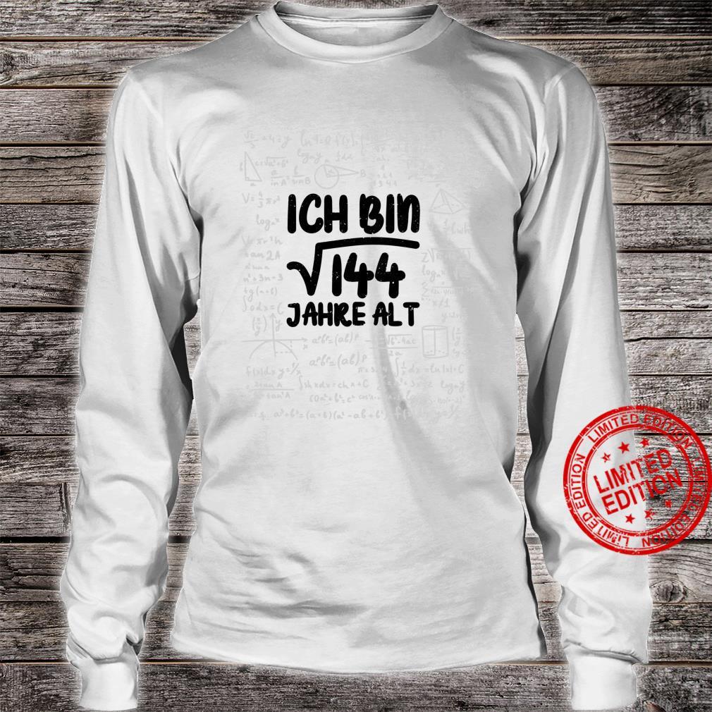 Mathe Wurzel 144 Jahre Alt 12. Geburtstag Shirt long sleeved