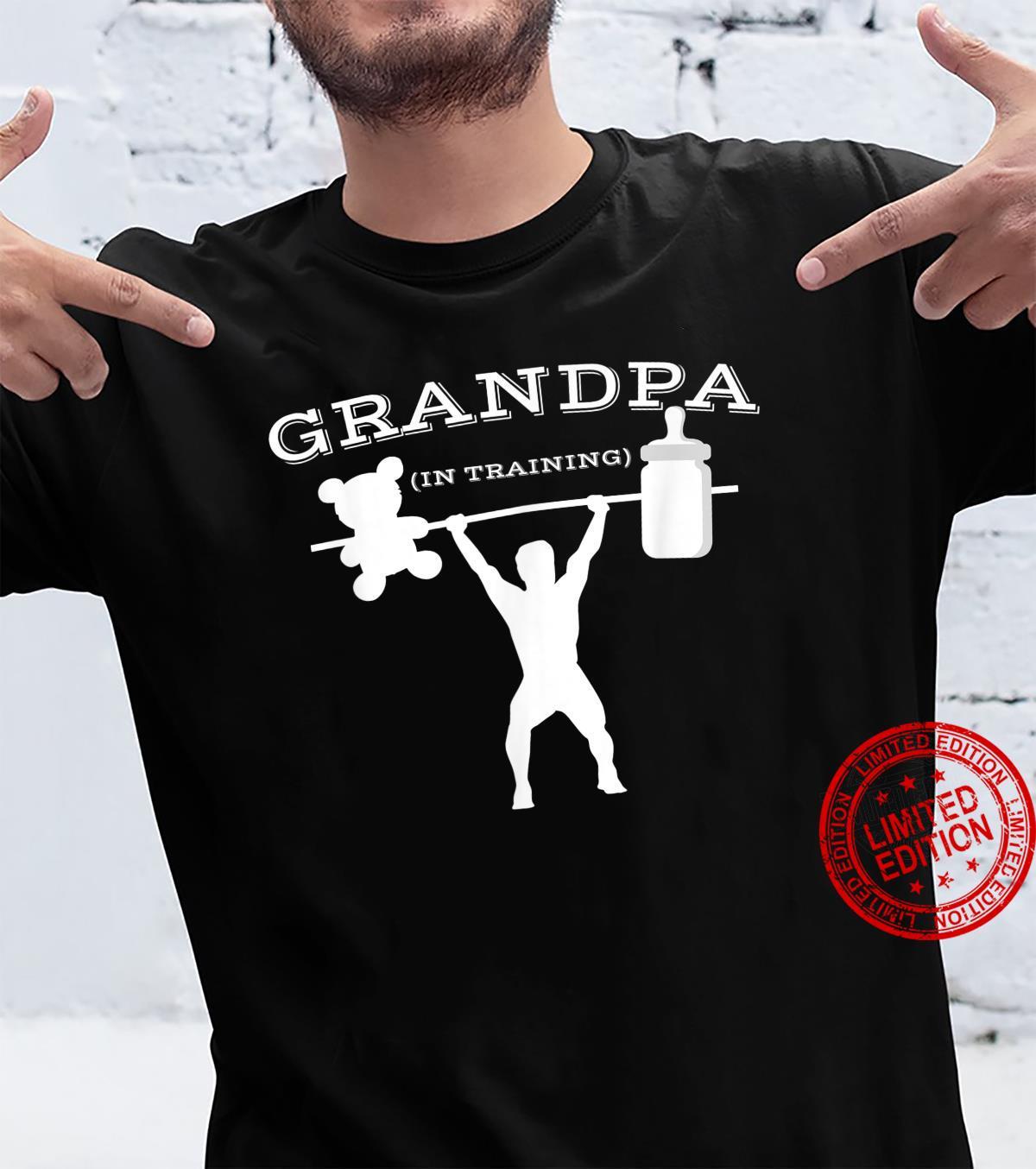 Mens New Grandpa Proud Expecting First Time Grandpa Shirt