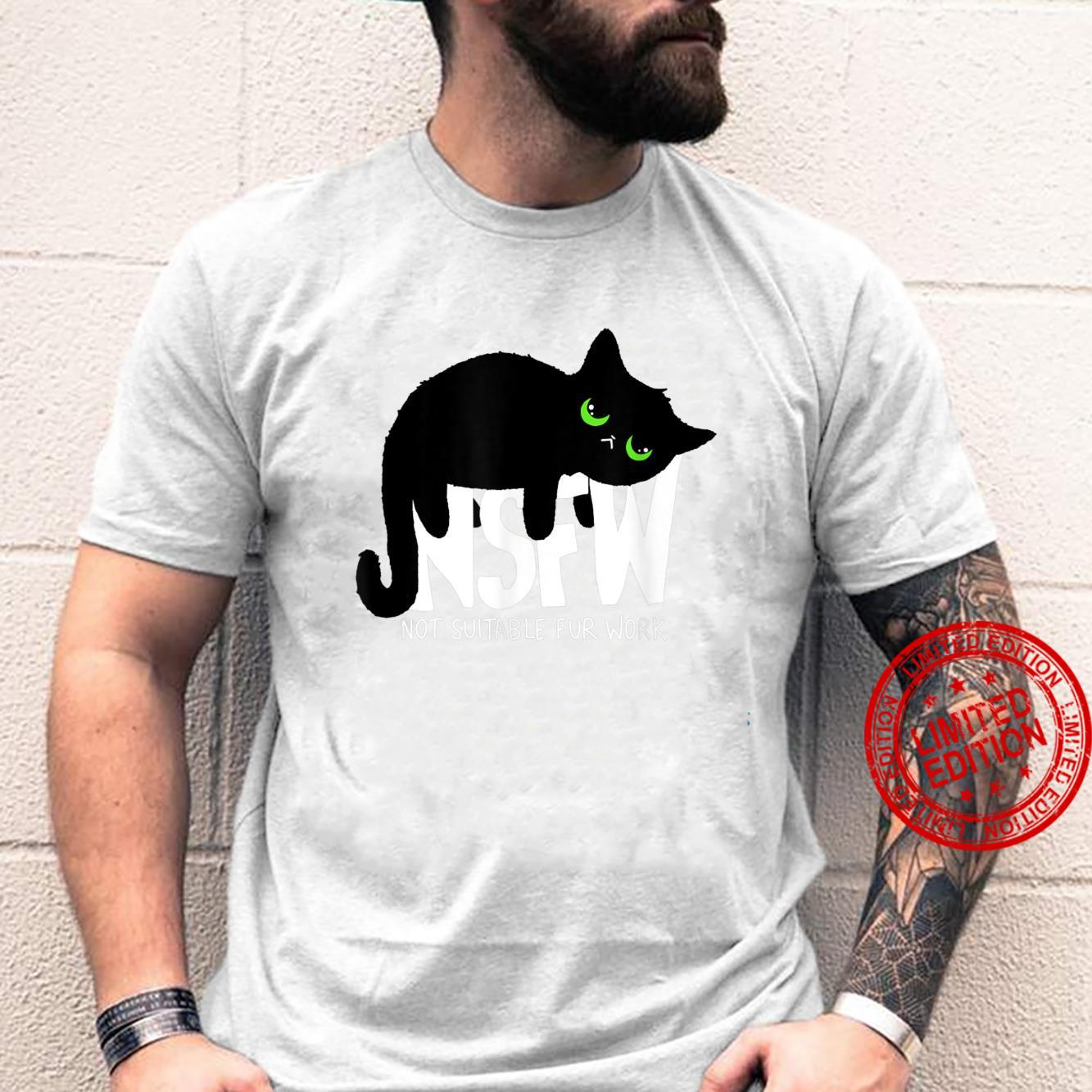 NSFW Not Suitable For Work Lazy Procrastinating Cat Shirt