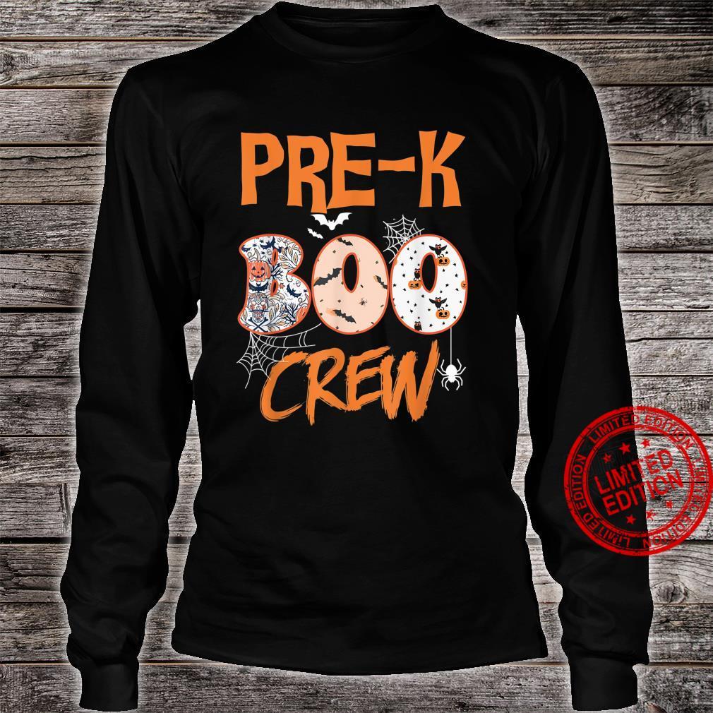 PreK Boo Crew Teacher Halloween Shirt long sleeved