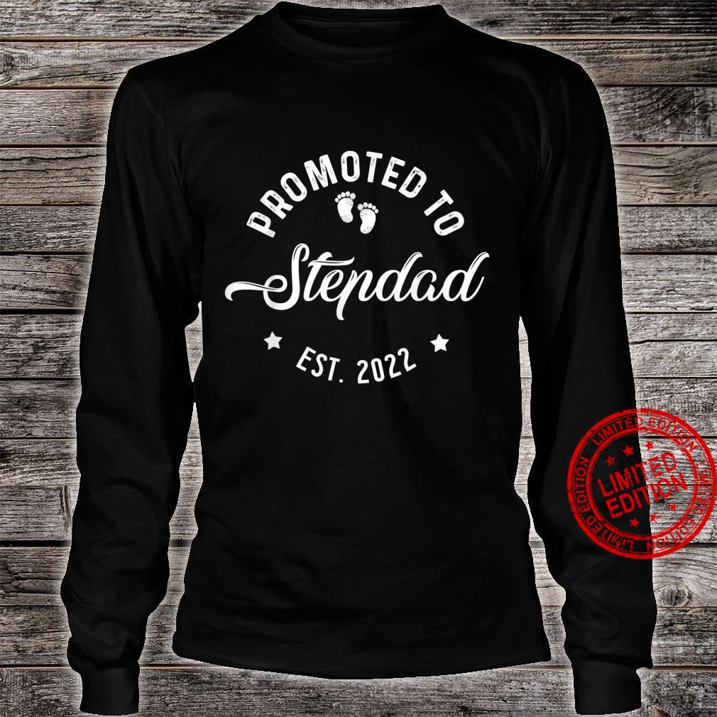 Promoted To Stepdad 2022 Fathers Day For New Dad Daddy Papa Shirt long sleeved