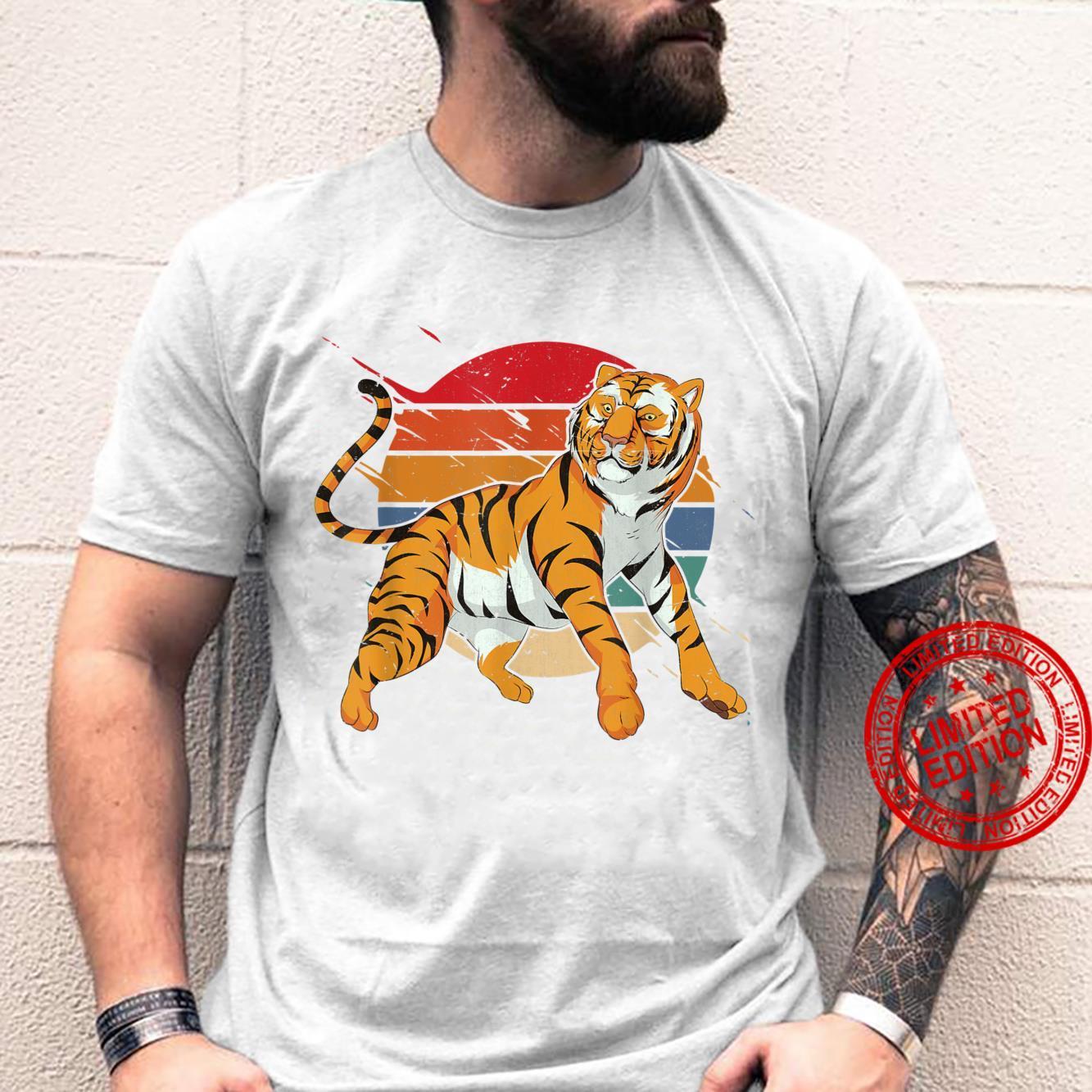 Retro Asian Wildlife Animal Predator Wild Cat Tiger Shirt