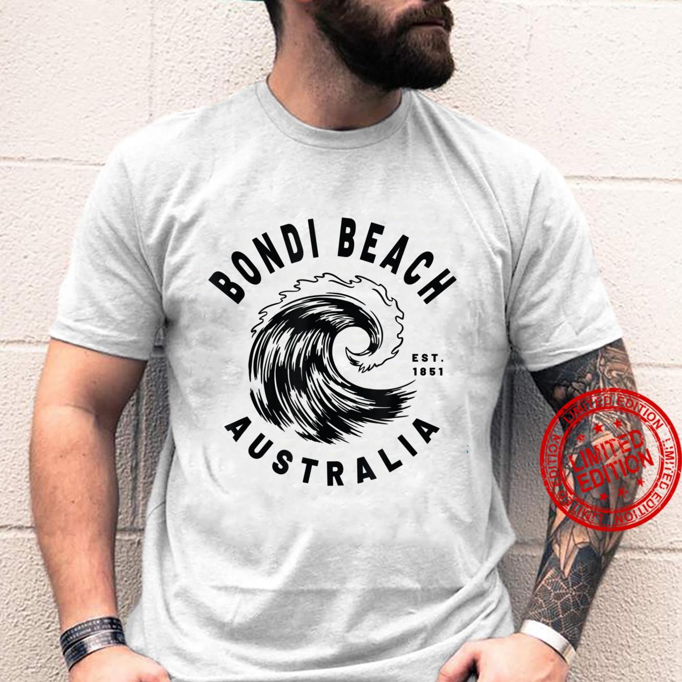 Retro Bondi Beach Australia Beaches Ocean Wave Novelty Art Shirt