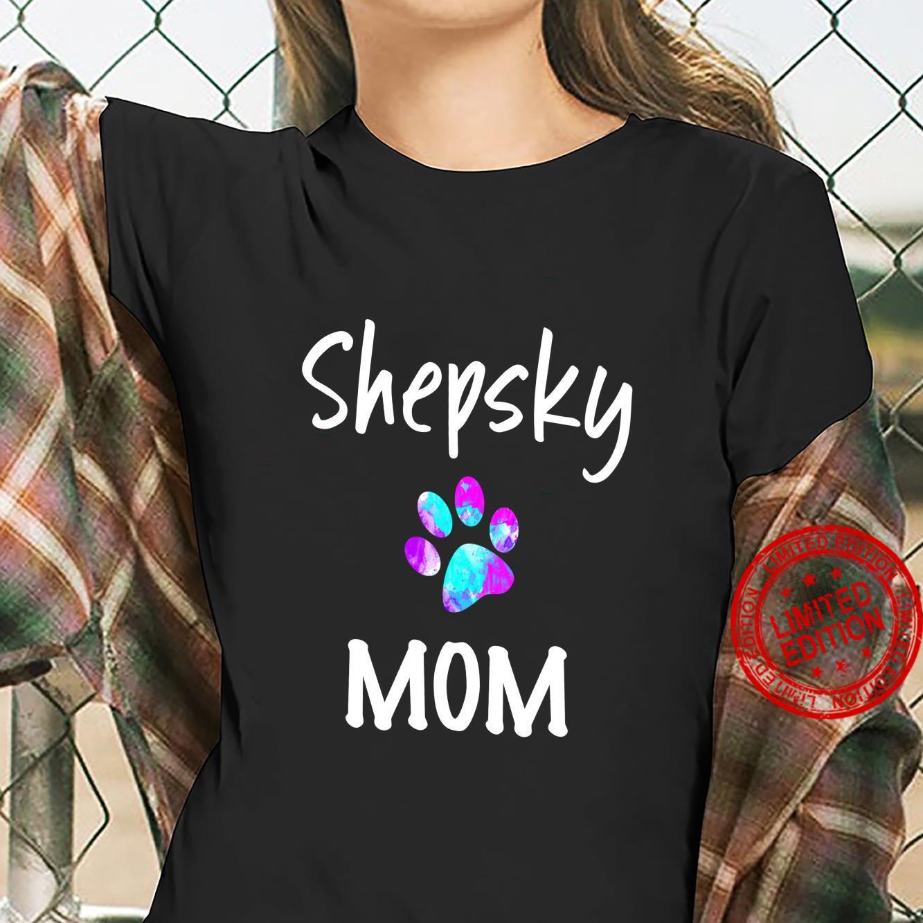 Shepsky Mom German Shepherd Husky Mix Dog Owner Shirt ladies tee