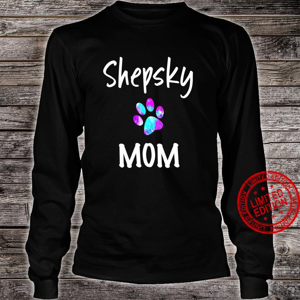 Shepsky Mom German Shepherd Husky Mix Dog Owner Shirt long sleeved
