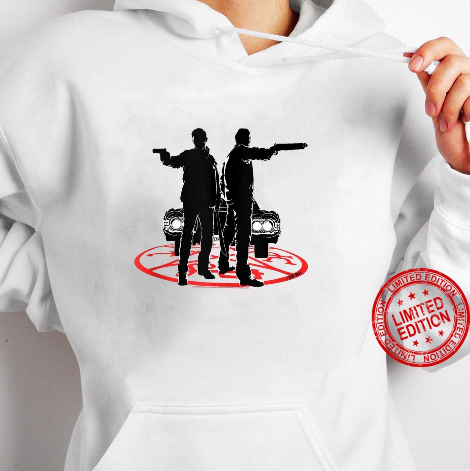 Supernatural Sam And Dean Silhouette Shirt hoodie