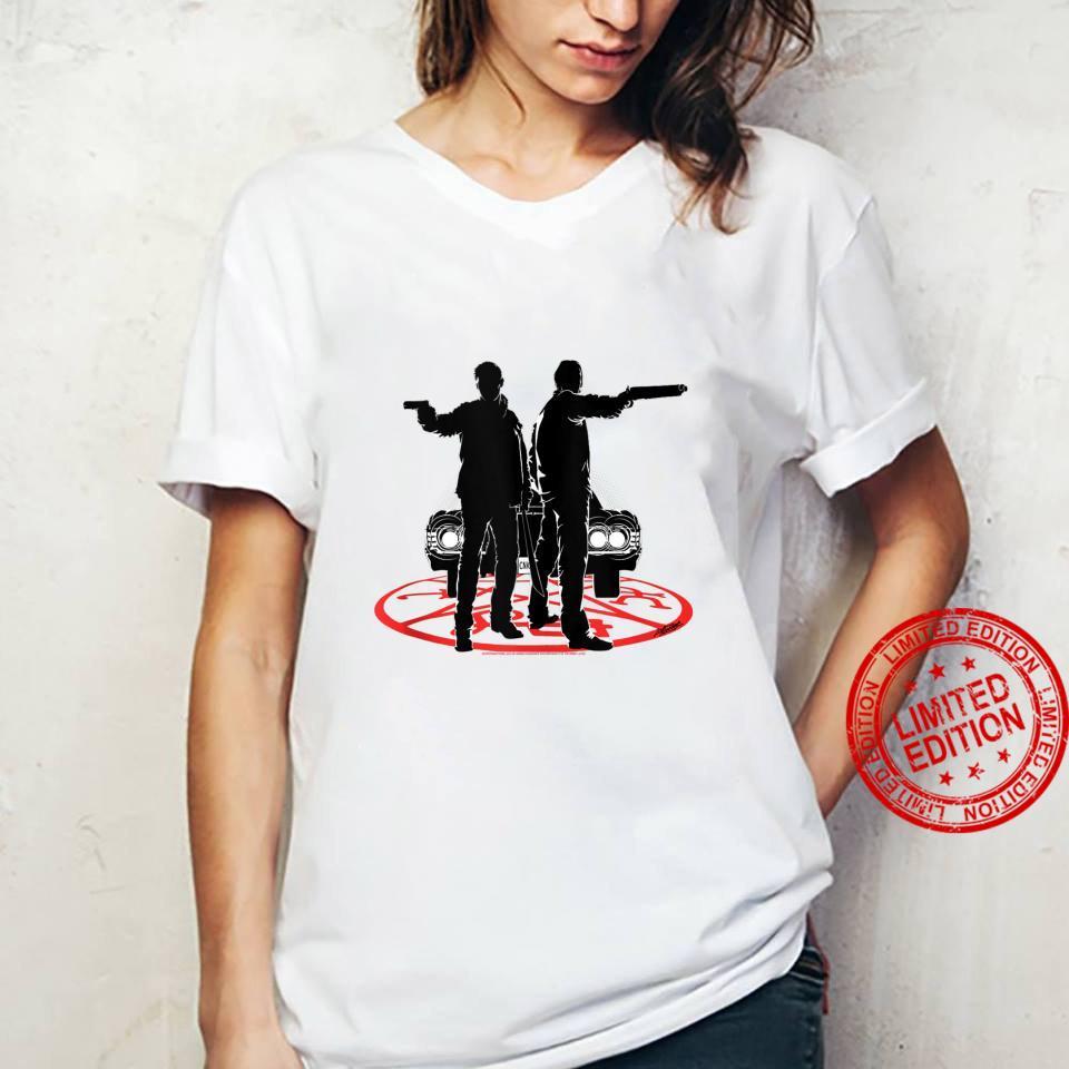 Supernatural Sam And Dean Silhouette Shirt ladies tee
