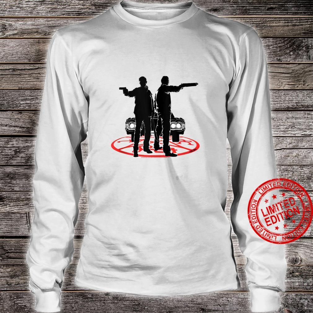 Supernatural Sam And Dean Silhouette Shirt long sleeved