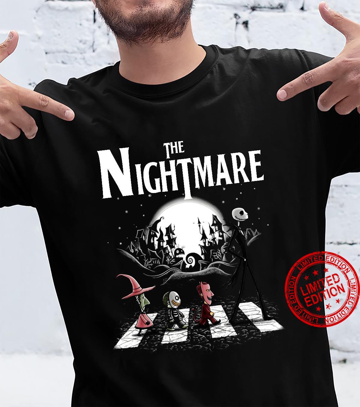 The nightmare Jack Skellington Abbey Road shirt