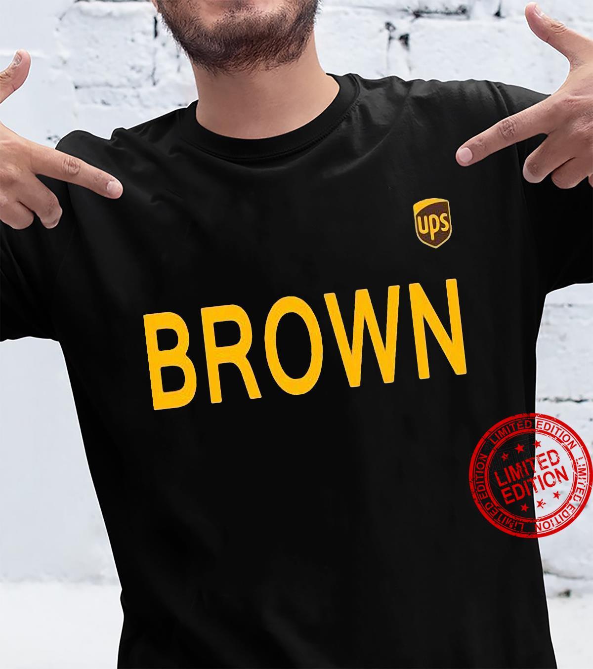 Ups Logo Brown Men T-Shirt