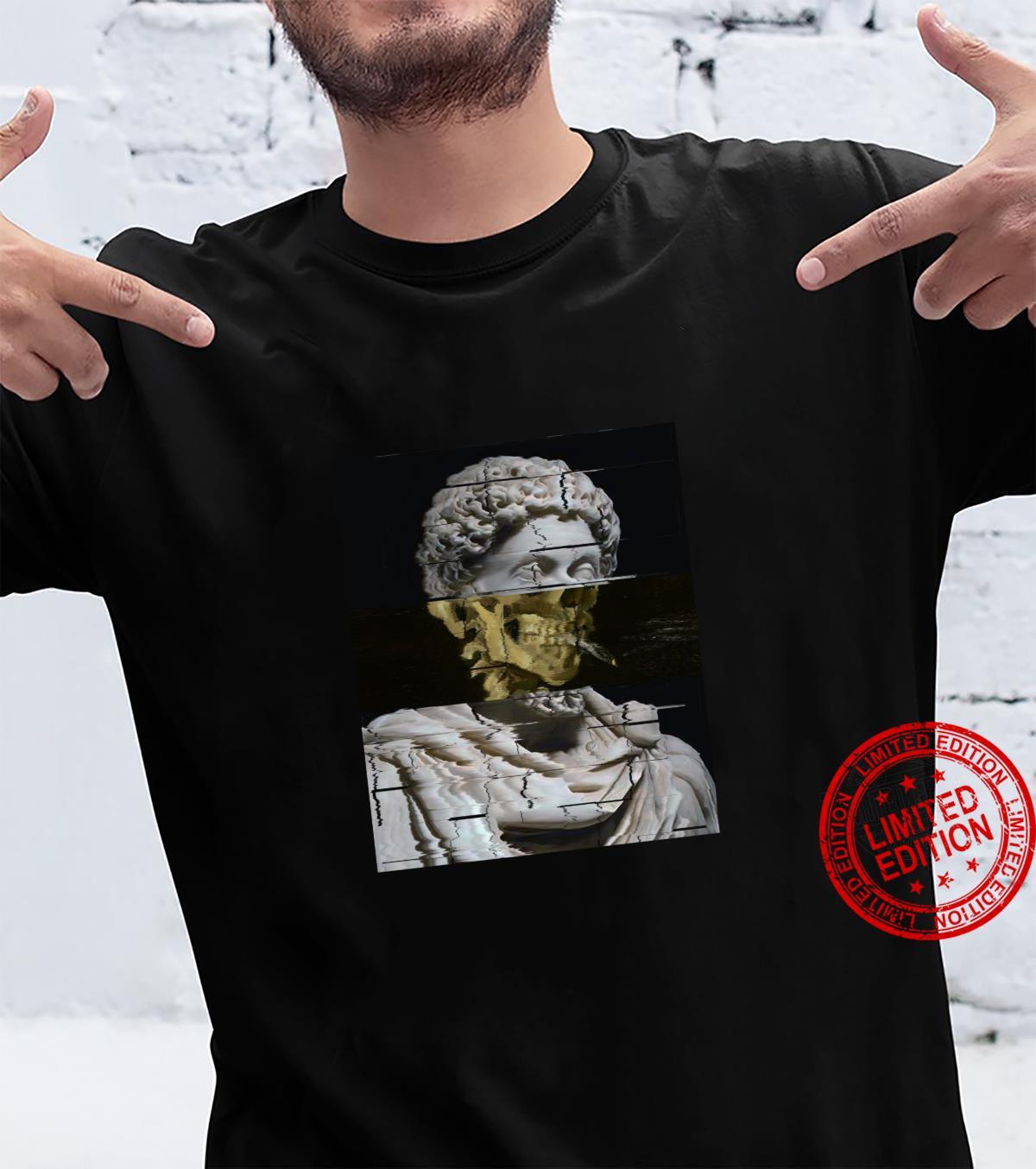 Van Gogh Marcus Aurelius Skelett Grafik Design Kunst Langarmshirt Shirt