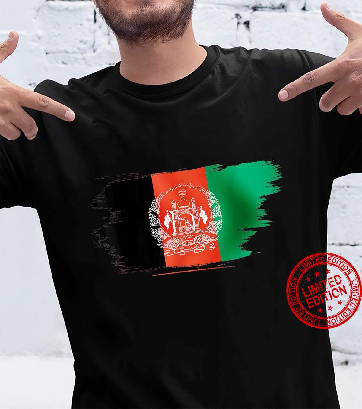 Vintage Afghanistan Afghan Flag United state Support Shirt