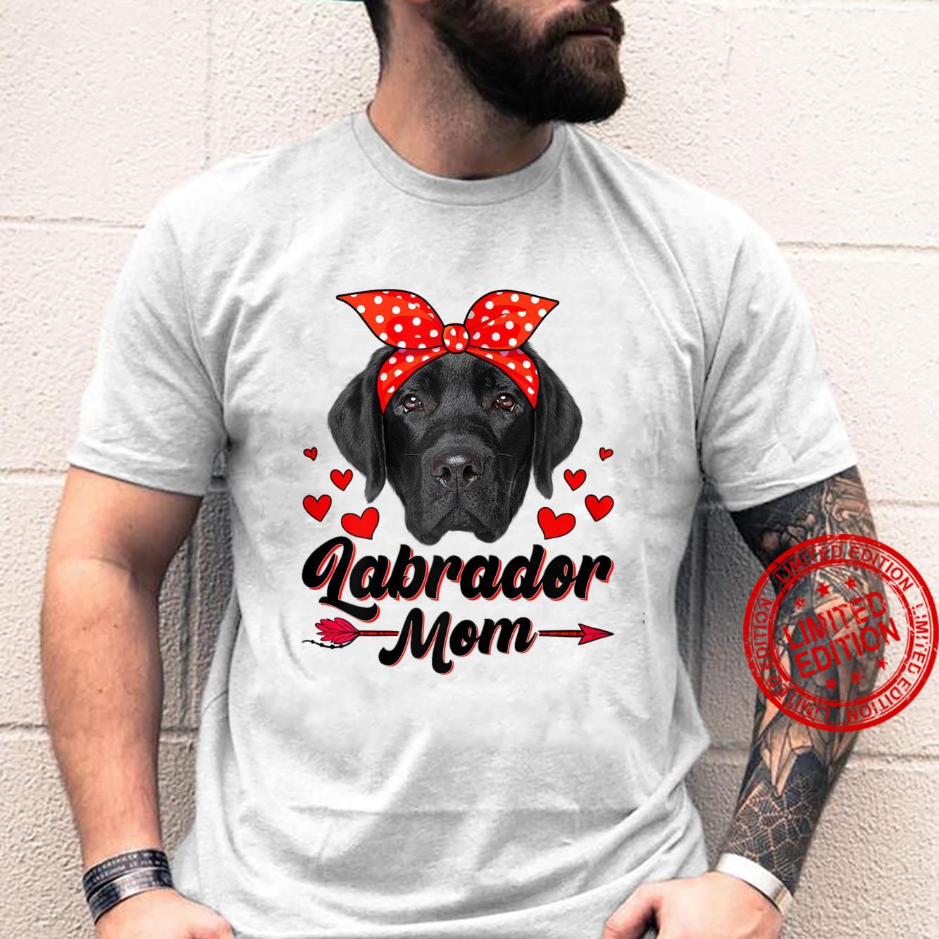Womens Cute Labrador Mom Dog Mom Mother's Day Shirt