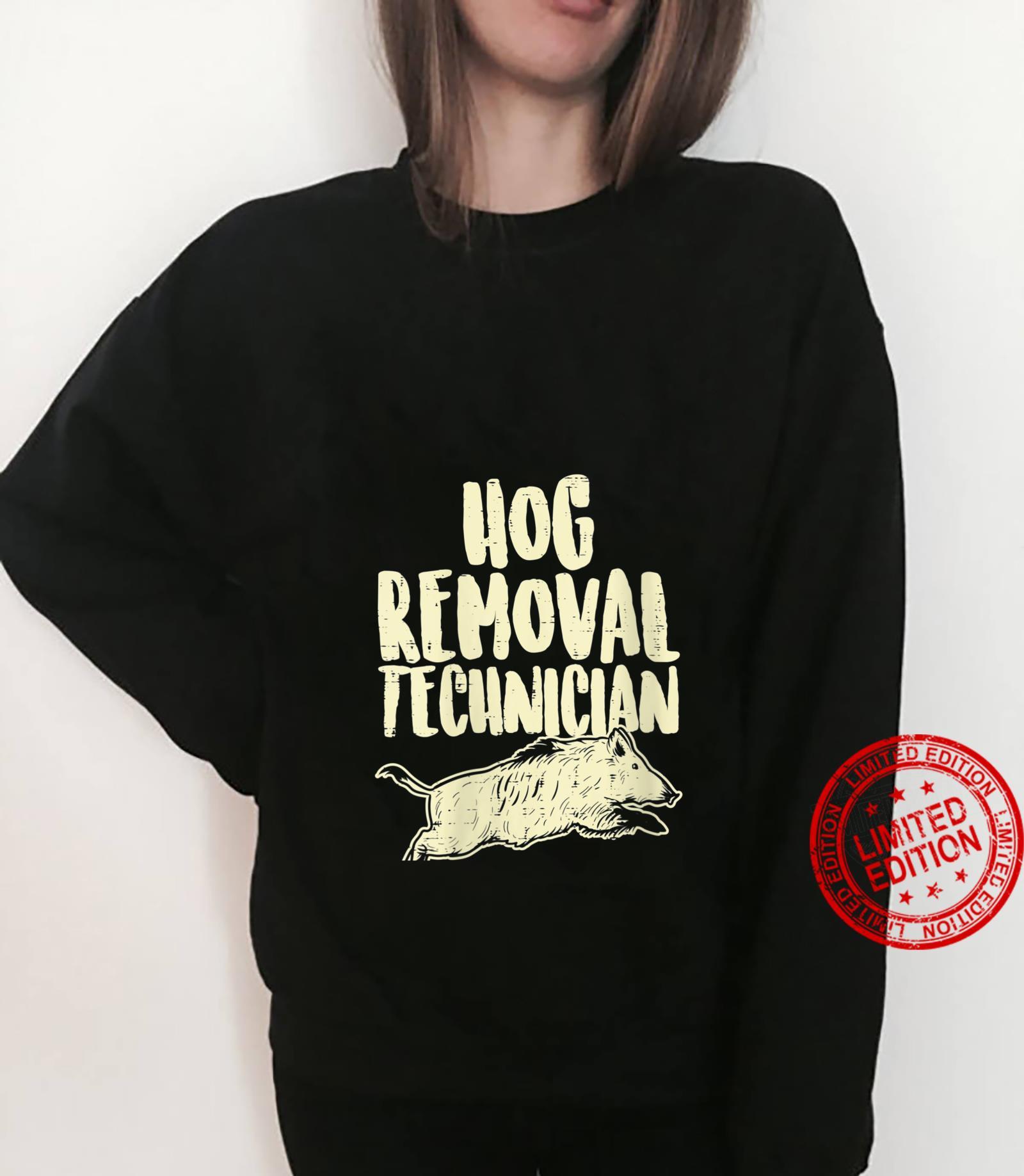 Womens Hog Removal Technician Wild Boar Pig Hunt Hunter Dad Shirt sweater