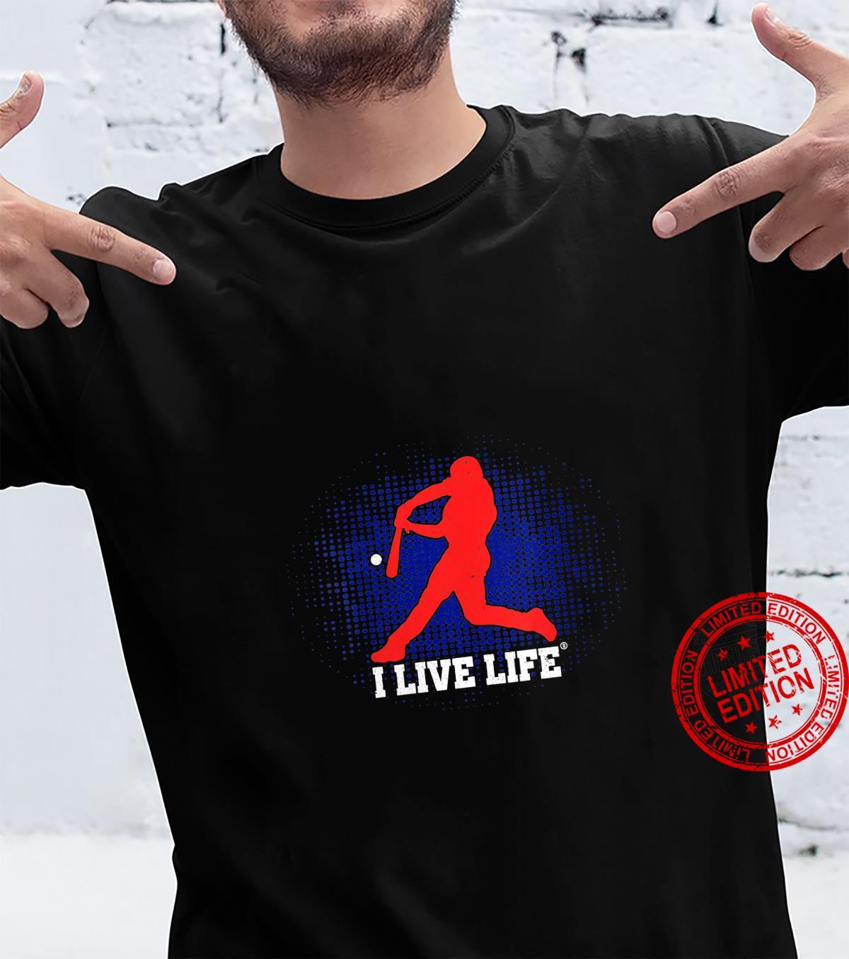 Womens I Live Life American Baseball Player Shirt