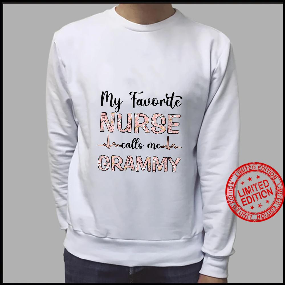 Womens My Favorite Nurse Calls Me Grammy Nurse Mother Shirt sweater