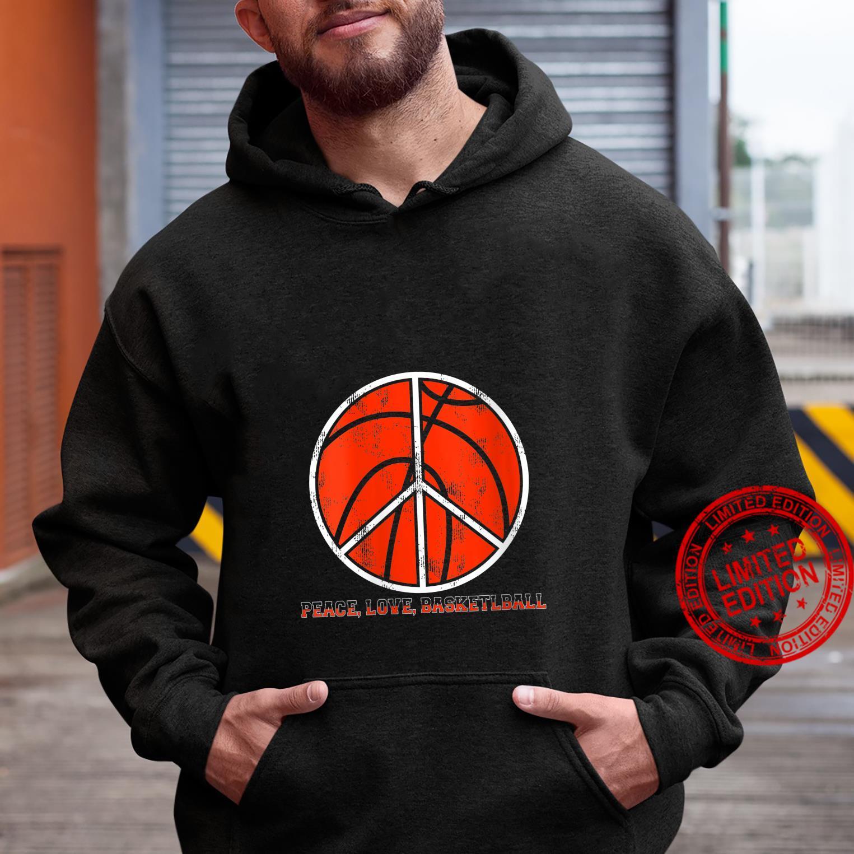 Womens Peace Sign Peace Love Basketball Shirt hoodie