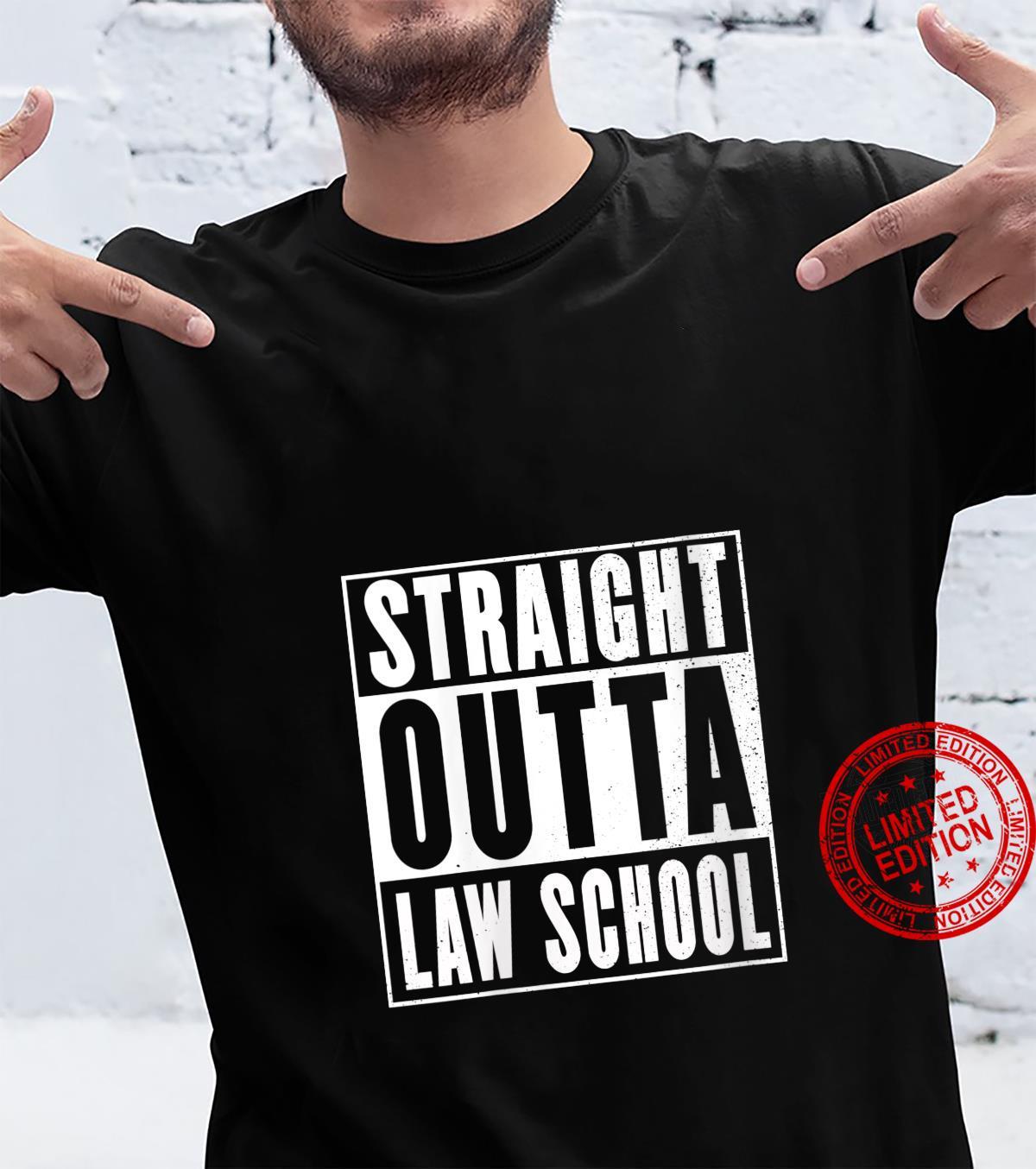 Womens Straight Outta Law School Graduation Lawyer Shirt