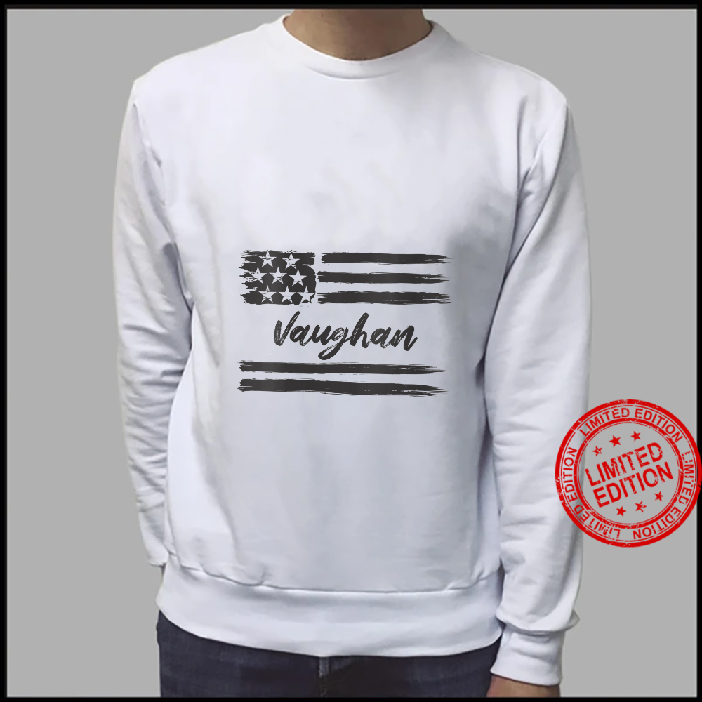 Womens Vaughan Personalized Name, Stars and Stripes, USA Flag Shirt sweater
