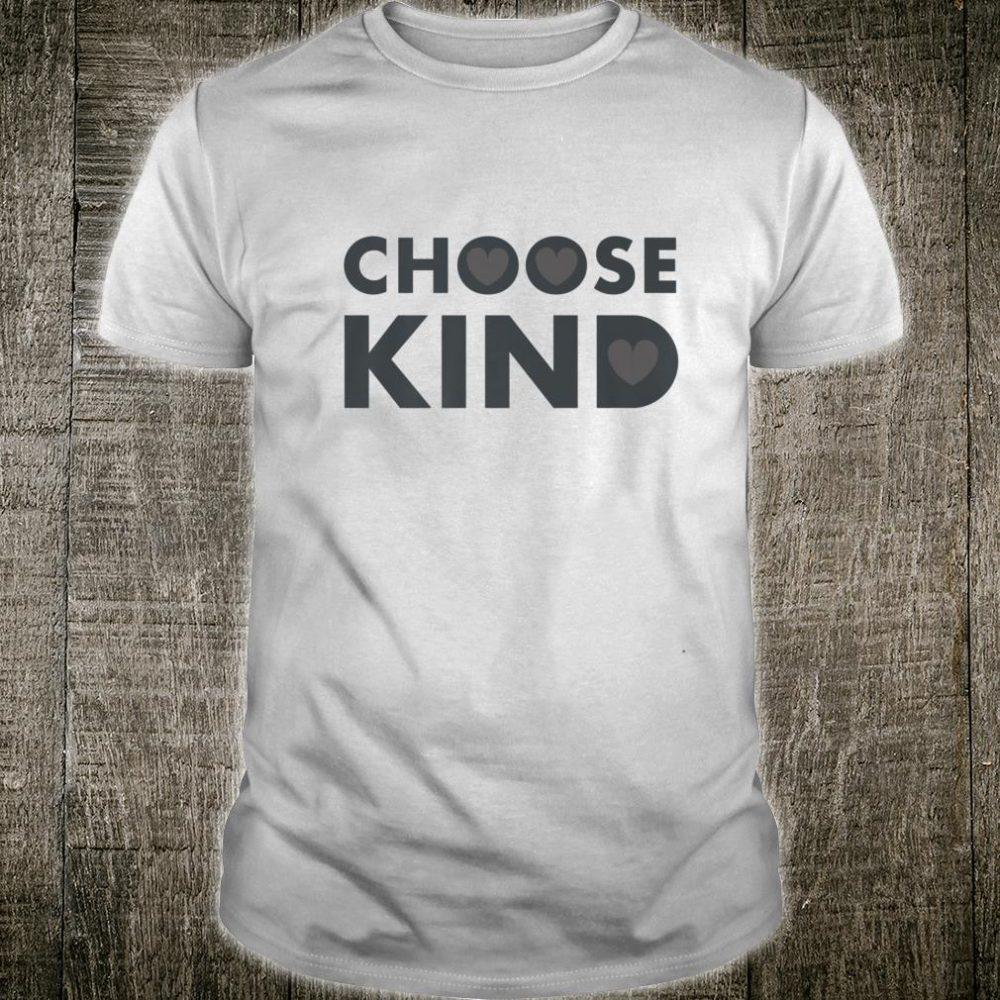 Choose Kind Anti Bullying Heart Shirt