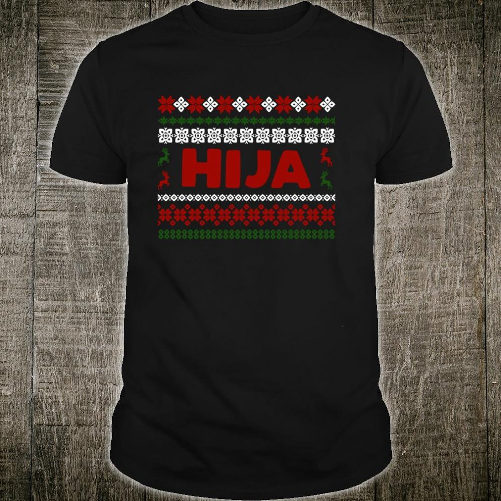 Christmas Matching Design in Spanish Navidad para Hijas Shirt