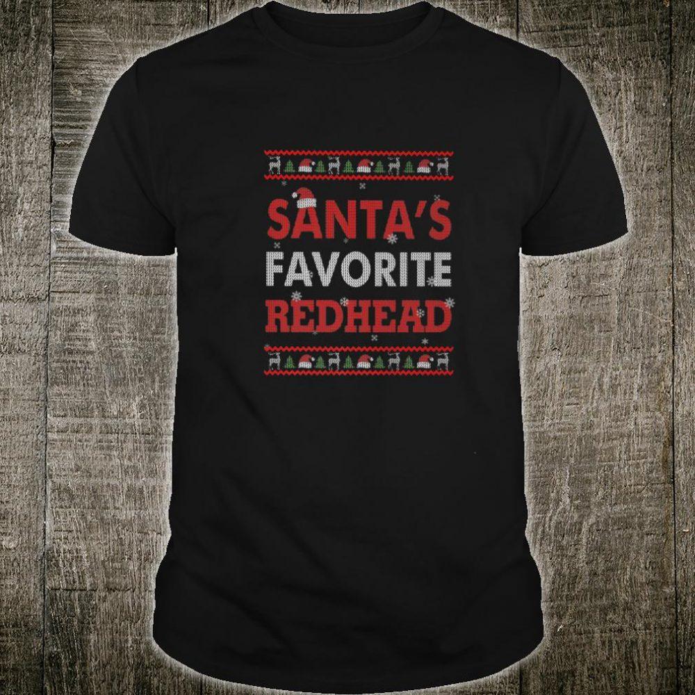 Christmas Santa's Favorite Redhead Xmas Shirt