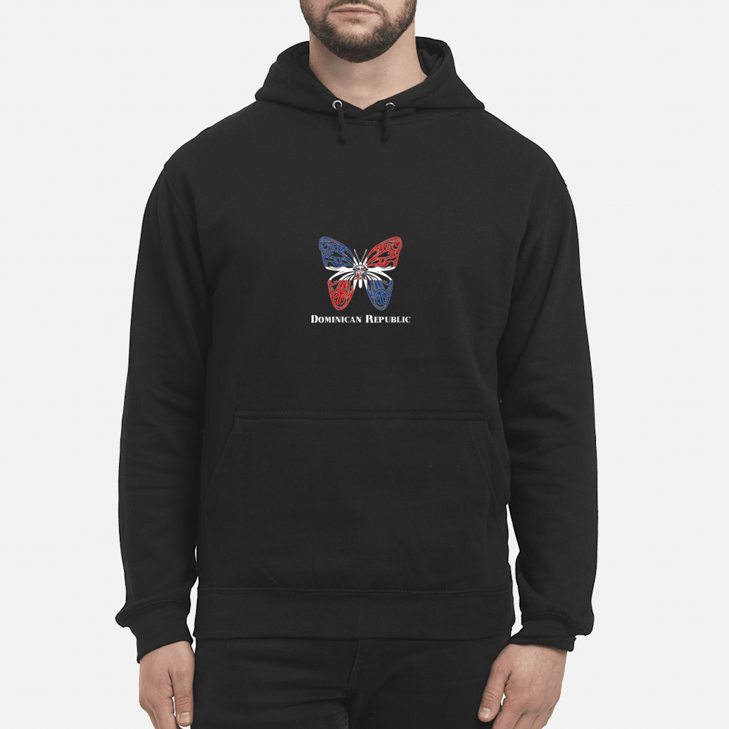 Cute Dominican Republic Flag Butterfly Parade Shirt hoodie