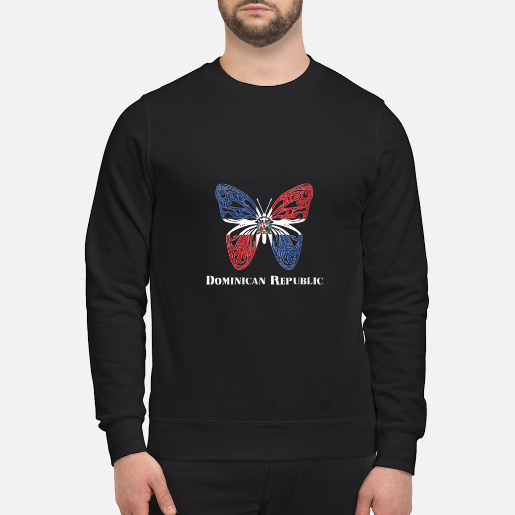 Cute Dominican Republic Flag Butterfly Parade Shirt sweater