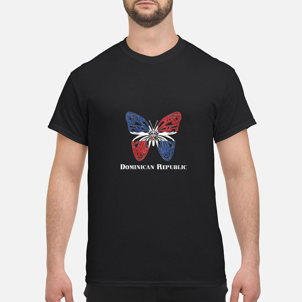 Cute Dominican Republic Flag Butterfly Parade Shirt