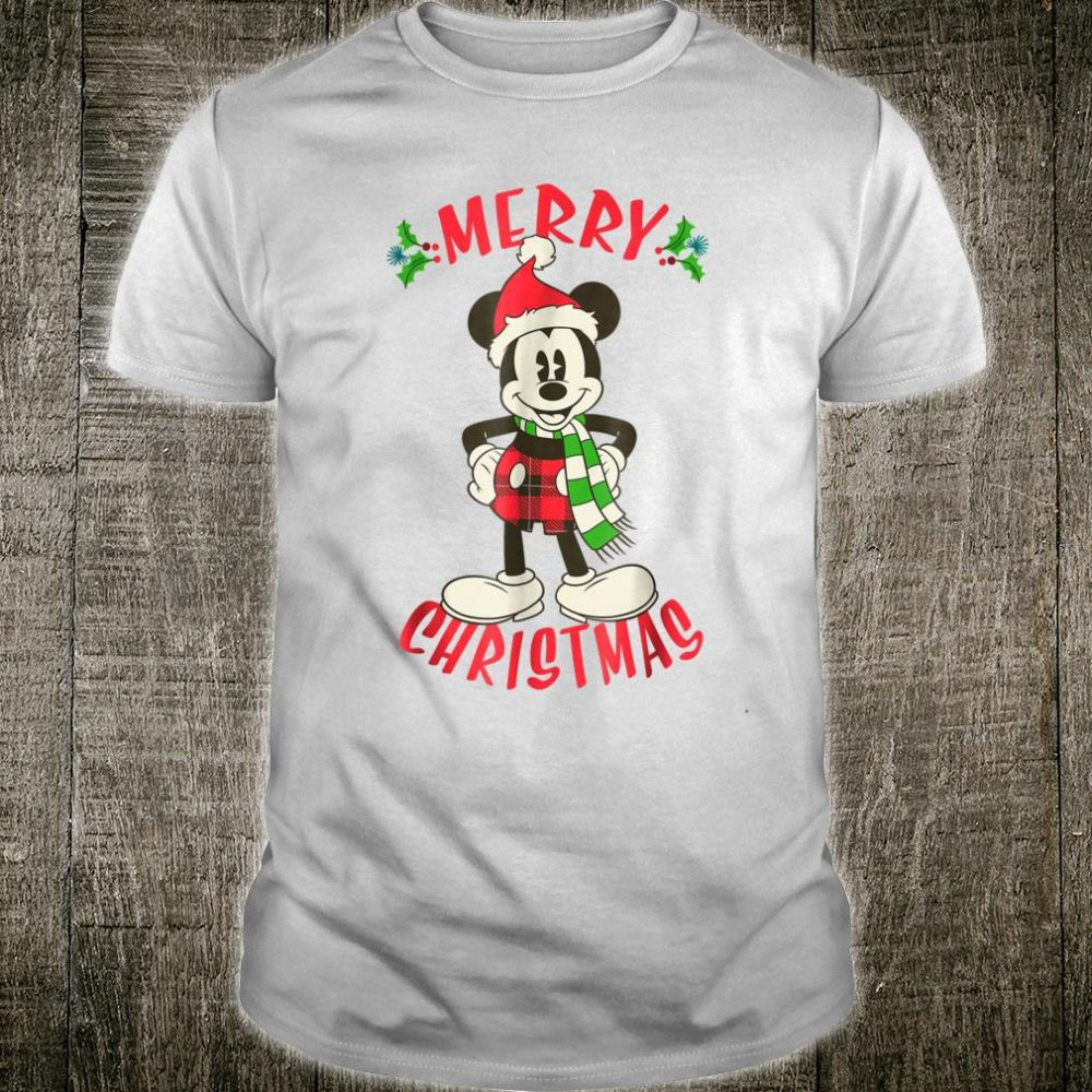 Disney Vintage Mickey Mouse Christmas Holiday Shirt