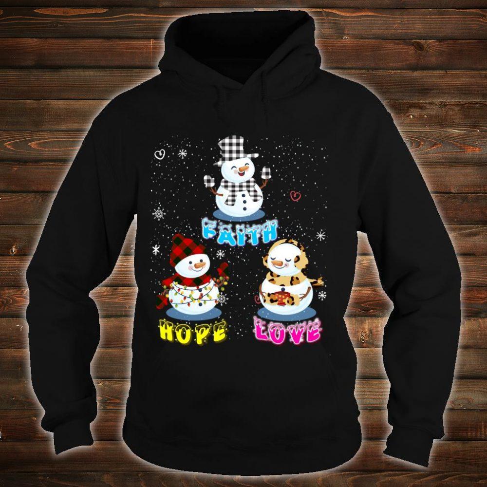 Faith Hope Love Hippie Peace Snowman Chistmas Leopard Shirt hoodie