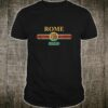 Fashion Rome Italy Italian Flag Tourist Roma Shirt