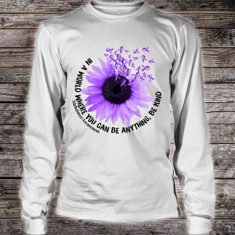 Flower Be Kind Shirt Alzheimer Awareness Shirt long sleeved