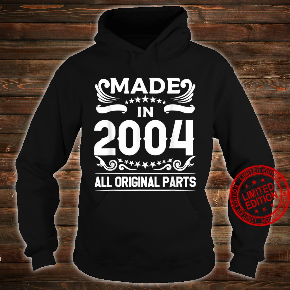 Gift for 16 Year Old Vintage Made In 2004 16th Birthday Shirt hoodie